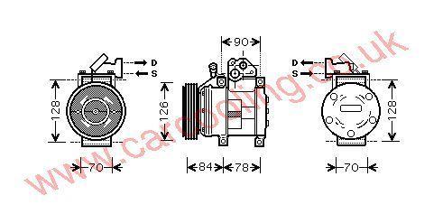 Compressor Kia Carnival I    2305004300