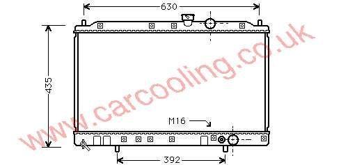Radiator Mitsubishi Colt IV    MB 660562