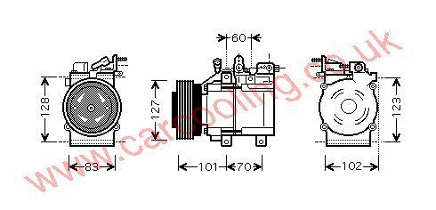 Compressor Hyundai Santa F�    9770126300