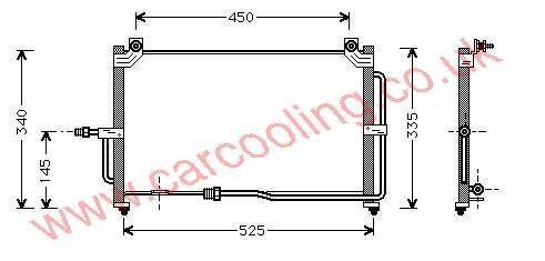 Condenser Daewoo Matiz 96314763