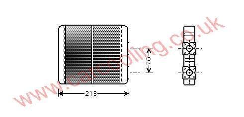 Heater Matrix Mitsubishi Lancer IV    27140-7F001