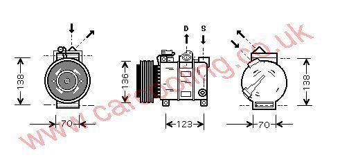 Compressor Lancia Kappa I    60816191