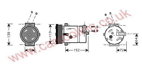 Compressor Opel Vectra - B    1854144