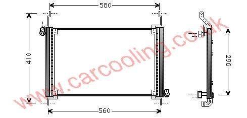 Condenser Fiat Multipla 46547675