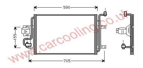 Condenser Audi S3    1J0.820.411 B / D