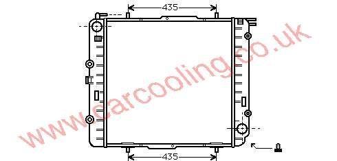 Radiator Merc. G. Wagen GW 463    463.500.0400 / 1200