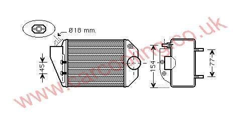Intercooler Skoda Superb 059.145.805