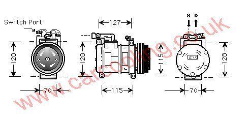 Compressor Jaguar XJ6    MNA7300AB