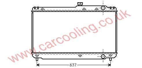 Radiator Toyota Camry III 16400-62090