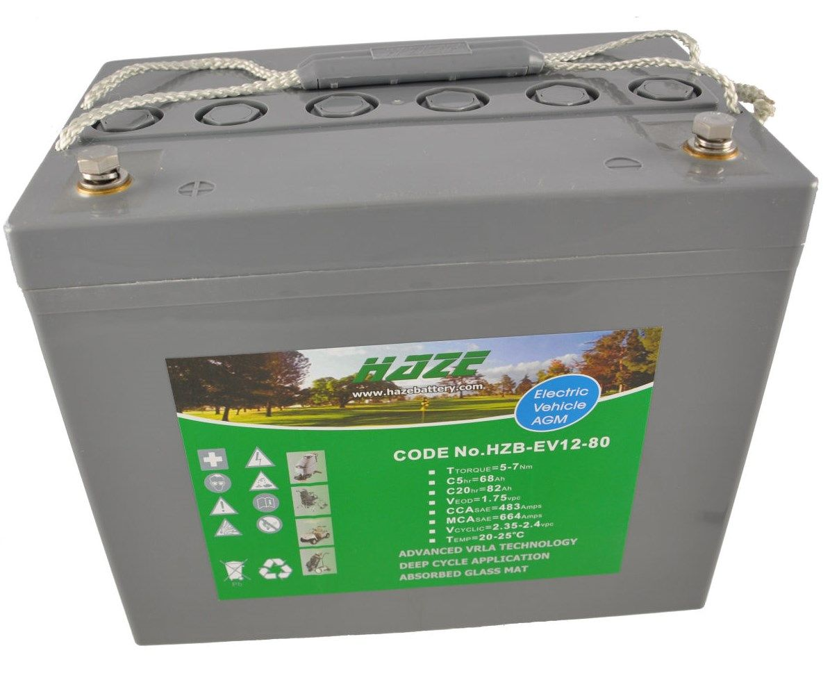 12V 92Ah Haze Sealed Lead Acid (AGM) Mobility Scooter Battery HZB12-80
