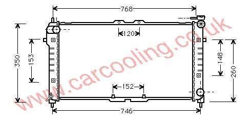 Radiator Mazda MX6 FS19-15-200 D / E