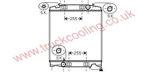 Radiator Iveco Stralis    41214447