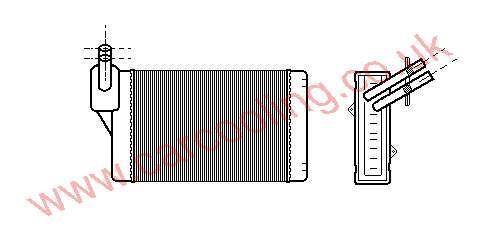 Heater Matrix VW Polo III b    191.819.031 F