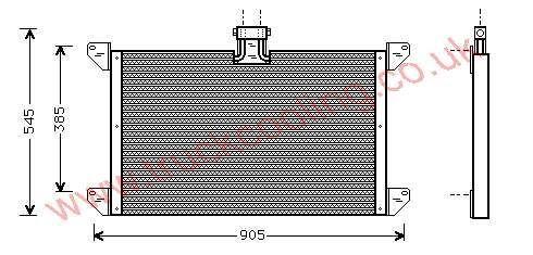 Condenser Scania 120 Series    1354110