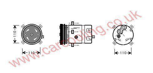 Compressor Lancia Delta II    7773398