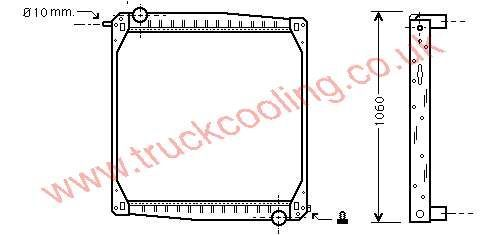 Radiator Scania 90 Series    1397435 / 1327249