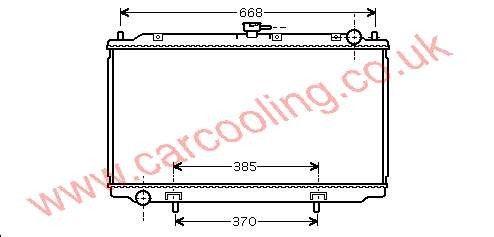 Radiator Nissan Almera Tino (V10M) 21410-BU100 /