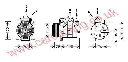 Compressor Vauxhall Zafira    6854001