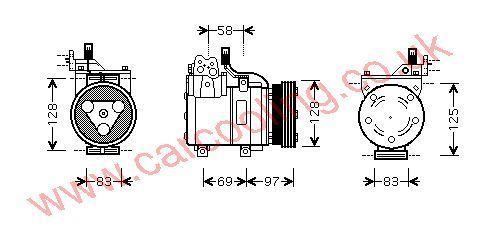 Compressor Hyundai Excel IV    9770125000