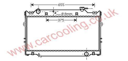 Radiator Toyota Landcruiser III 16400-66030