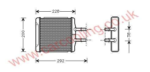 Heater Matrix Daewoo Nubira    96190674