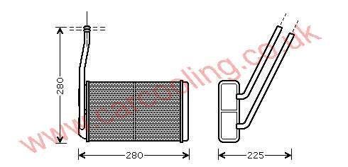 Heater Matrix Rover Freelander I    JEF100150