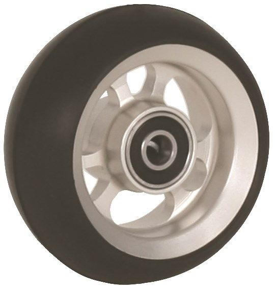 "80mm x 34mm (3"") Castor Wheel with ALUCore Hub, Black Rubber Tyre"