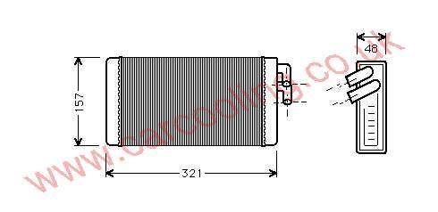 Heater Matrix Audi 200 II 443.819.031 B