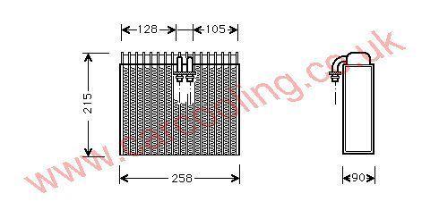Evaporator Alfa 146 II    46722672