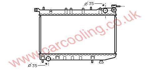 Radiator Nissan Almera I (N15)    21410-0M100