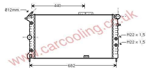 Radiator Vauxhall Cavalier Mk 2    1300107 - 52455192