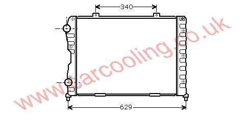 Radiator Alfa Spider    60628578