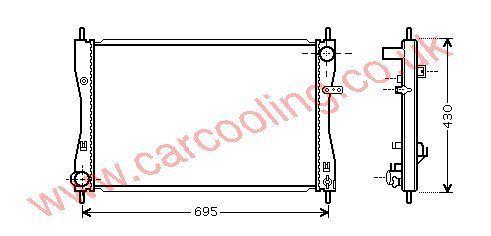 Radiator MCC Smart Forfour    MN130395