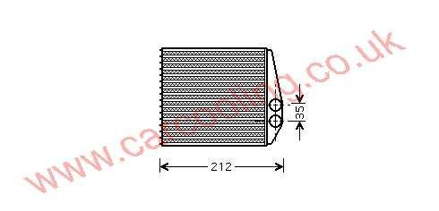 Heater Matrix Vauxhall Combo - C    1618222 - 09196140