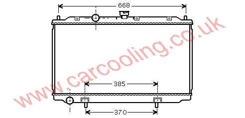Radiator Nissan Primera P12    21410-AV600