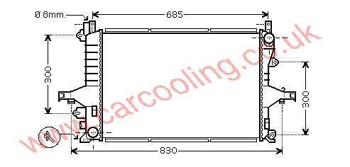 Radiator Volvo 80 Series 8602538