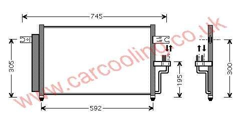 Condenser Hyundai Accent II 97606-25500