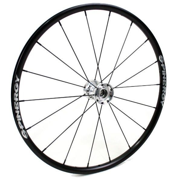 "25"" Spinergy Everyday Wheel - Black Rim, Silver Hub, 18 Spokes 21825A"