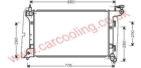 Radiator Toyota Corolla Verso    16400-21180