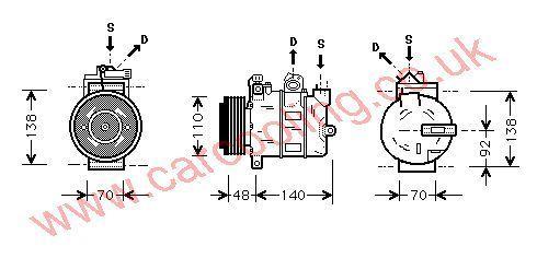 Compressor Vauxhall Zafira    1854120