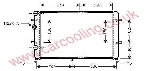Radiator Seat Ibiza III    6K0.121.253 AG / BC