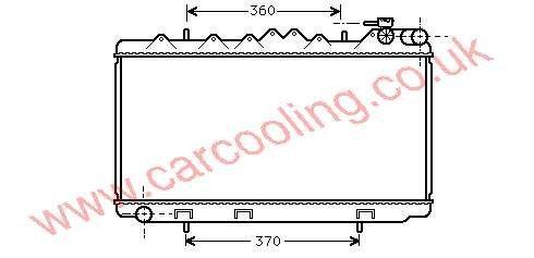 Radiator Nissan Sunny IV    21410-65C01