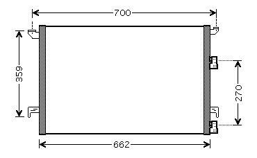 Condenser SAAB 9-3 12804660