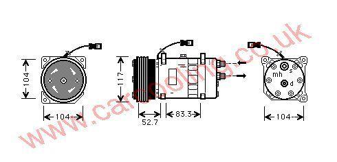 Compressor Citroen Relay    6453G5