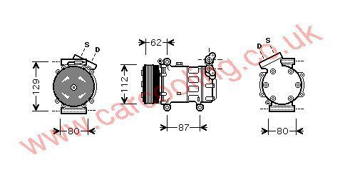 Compressor Nissan Kubistar X76    2763000QAJ