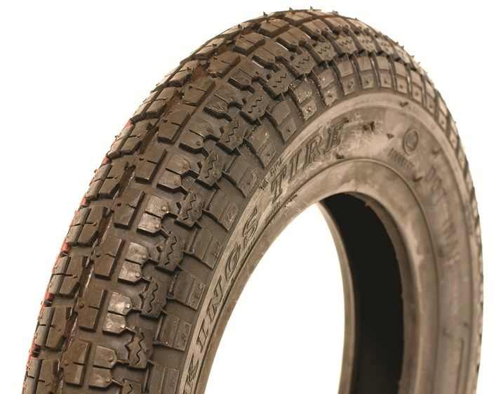 350 x 8 Kingstyre Black Block Tyre
