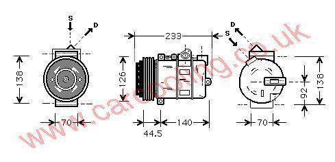 Compressor Merc. R170 SLK Series    2302011