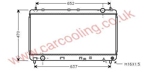 Radiator Toyota Camry IV    16400-0A050