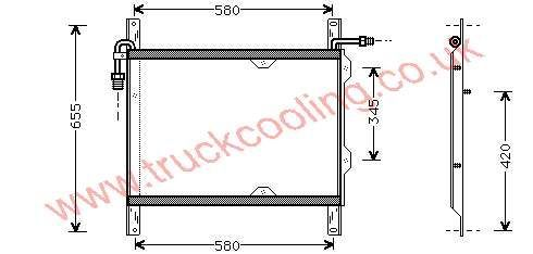 Condenser Daf 95-Series    1327759