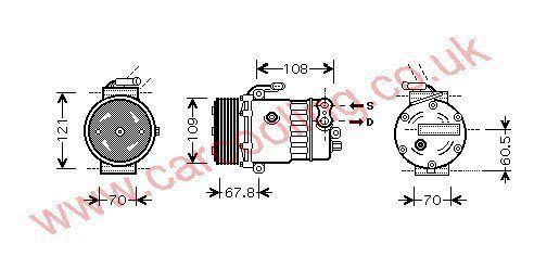 Compressor Vauxhall Astra Mk 4    1854112